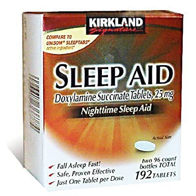 Kirkland Signature Nighttime Sleep Aid (Doxylamine Succinate 25 mg), 192 Tablets , Pack of 3