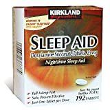 Kirkland Signature Nighttime Sleep Aid (Doxylamine Succinate 25 mg), 96 Tablets (Pack of 4)