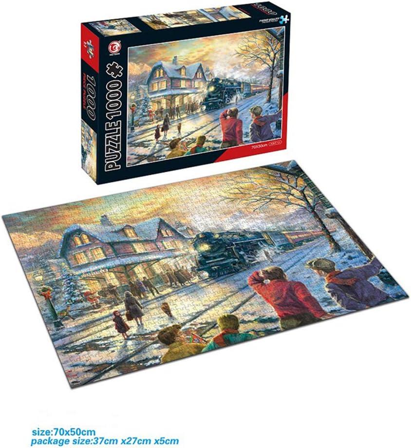Bbye Rompecabezas de Arte paisajístico 1,000 Piezas de Rompecabezas de cartón para Adultos y niñosFlor de la Puerta