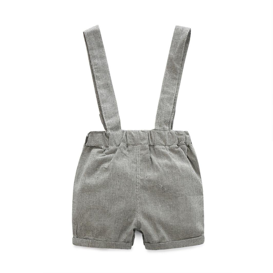 c92310f6c Amazon.com: Kehen Infant Toddler Baby Boys 2pcs Summer Outfits Gentleman  Bowtie Short Sleeve Shirt+Suspenders Shorts Set Baby Overalls: Clothing