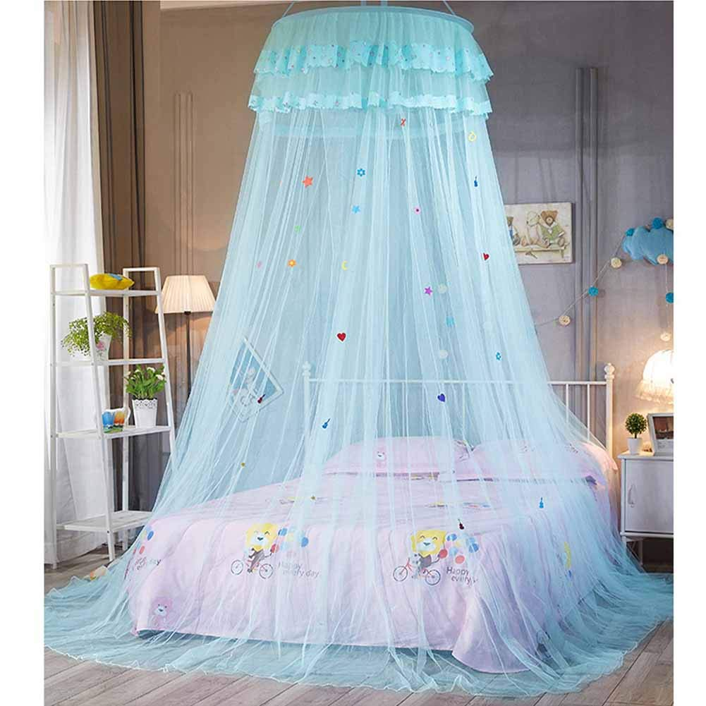 POPPAP Canopy for Girls Bed Kids Bedroom Decor Ice Blue Bed Shelter