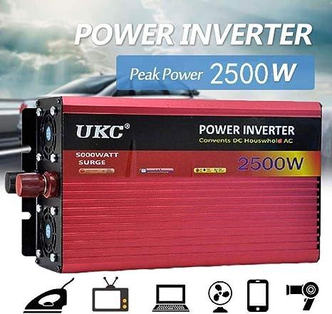 Auto Car Power Inverter, 2500W 12V a 220V AC Modificado salidas de ...