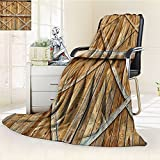 Rustic Blanket by Nalohomeqq Traditional Wooden Timber Door with Vertical and Cross Planks Farmhouse Antique Photo Fabric Custom Hypoallergenic Printed Fleece Blanket Extra Sand Brown