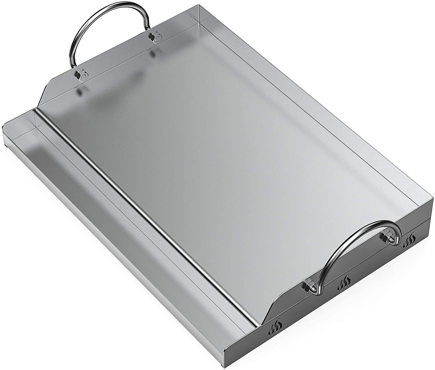 Onlyfire Universal Stainless Steel Griddle for BBQ Grills With Removable Handles