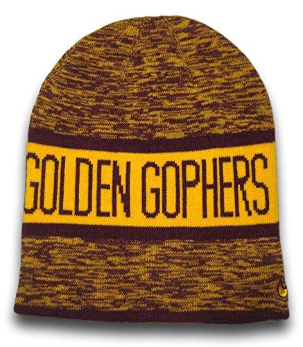 Fan Apparel Minnesota Golden Gophers Reversible Beanie Hat Toque ()
