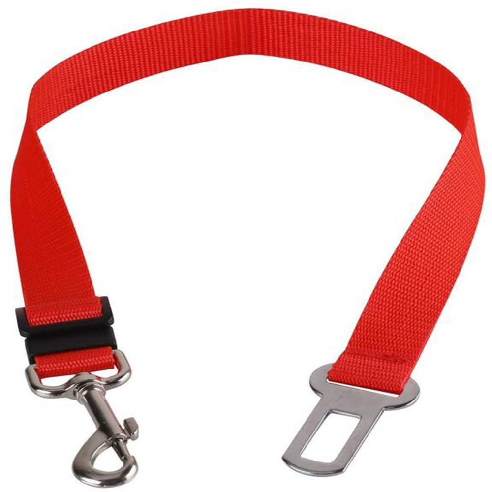 L-FENG-UK Car Vehicle Auto Safety Seat Belt for Pet Dog (Red)