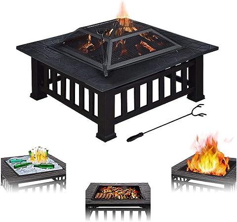 Triclicks 3 En 1 Grand Foyer Exterieur Barbecue Chauffage De Glace