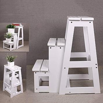 GOG Taburete, escalera plegable Taburetes Escaleras Silla de cocina multifunción Reposapiés antideslizante, Escalera de escalera 3 escalones,si: Amazon.es: Bricolaje y herramientas
