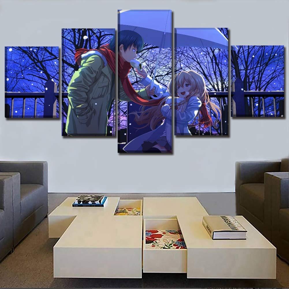 XLST 5 Piezas Lienzo Anime Toradora Poster La Pintura Modular de la Pared Art para ladecoraci/ón en casa