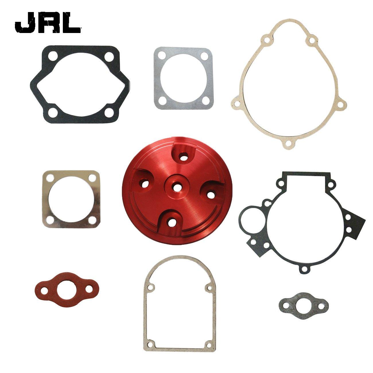 JRL Red CNC Cylinder Head&Gasket Set Fit 80cc Motorized Bicycle Bike Motor Engine Nantong Power