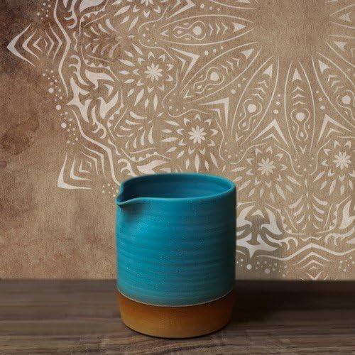 Medidas Dise/ño 48 x 48 cm TODO STENCIL Home Decor Roset/ón 014 Mandala Stencil 50 x 50 cm