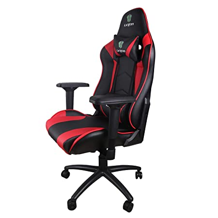 LETTON GM01 Gaming Office Chair Computer Desk Chair Racing Style High Back PU Leather Chair Executive and Ergonomic Style Swivel Chair with Headrest and Lumbar Support