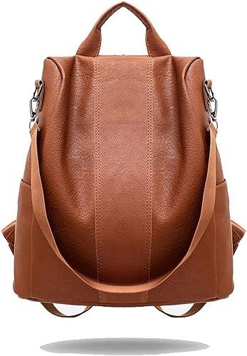 borsa da donna quadrante in pelle