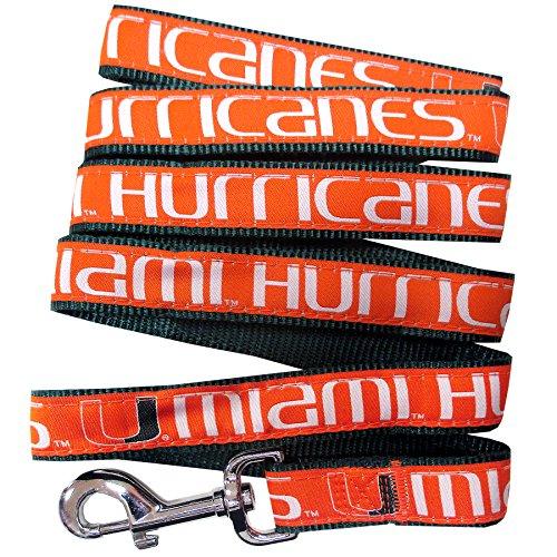 Pets First Collegiate Pet Accessories, Dog Leash, Miami Hurricanes, Small -