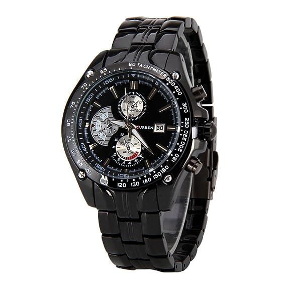 CURREN Wishar de cuarzo reloj de pulsera venta machos de alto grado de falsos de tres a seis de trabajo de un reloj de pulsera reloj de pulsera de la tira: ...