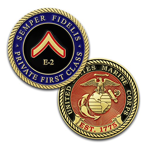 Class Challenge Coin - Marine Corps E2 Challenge Coin! USMC PFC Rank Military Coin. Private First Class Challenge Coin! Designed by Marines For Marines - Officially Licensed Product!