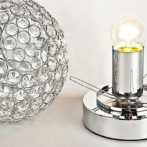 moderno lampada da comodino di cristallo lampada da tavolo con ... - Bajour Per Camera Da Letto