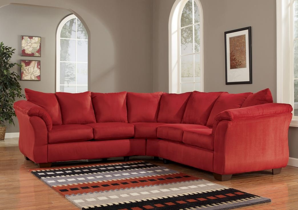 Red Upholstery Fabric Sectional by Ashley Furniture -  - sofas-couches, living-room-furniture, living-room - 61Py6bxRjcL -