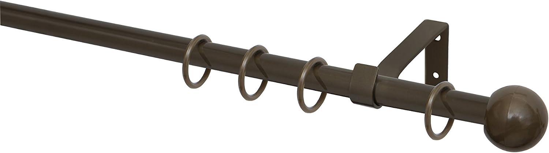 Tringle Barre de rideau Style de 160/cm /Ø 16/mm /«Kringel 1/disques Argent