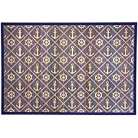 Kitchen Rugs Area Rugs 3 ft by 5 ft Bamboo for Indoor or Outdoor Patio Rug Anchor Ahoy
