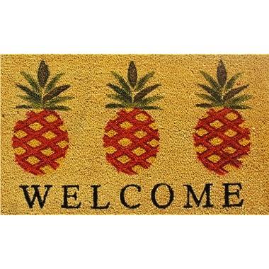 Home & More 120351729 Pineapple Welcome Doormat, 17  x 29  x 0.60 , Multicolor