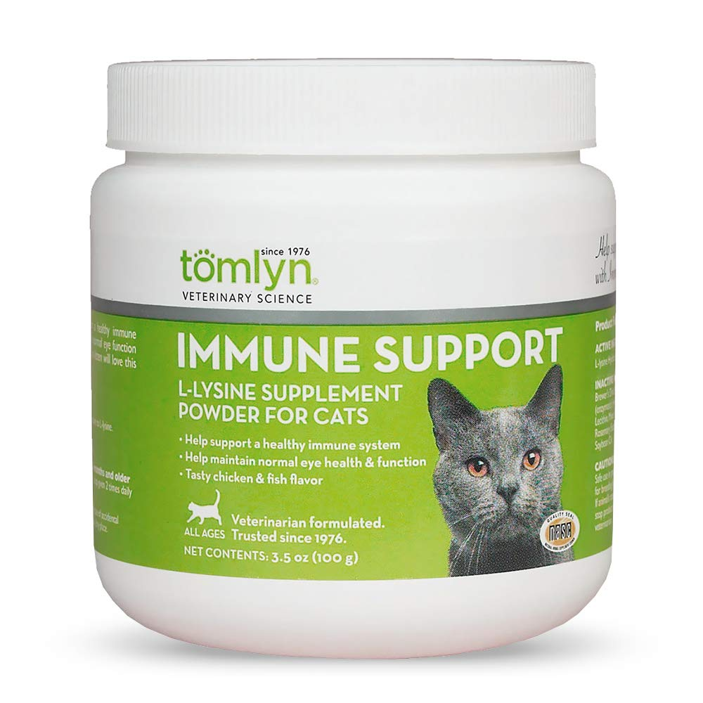 Tomlyn Immune Support Daily L-Lysine Supplement, Fish-Flavored Lysine Powder for Cats and Kittens, 3.5oz by TOMLYN