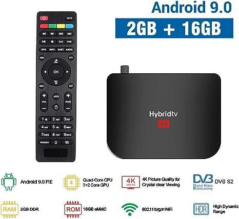 HFJ&YIE&H Smart TV Box 4K Android 9.0 DVB-T2 / T DVB-S2 / S Terrestre Combo Amlogic S905X2 Quad Core WiFi Set Top Box: Amazon.es: Deportes y aire libre