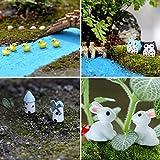 Kearui 99 PCS Fairy Garden Ornaments Miniature Kits for Dollhouse DIY Succulent Plant Vegetable Decor