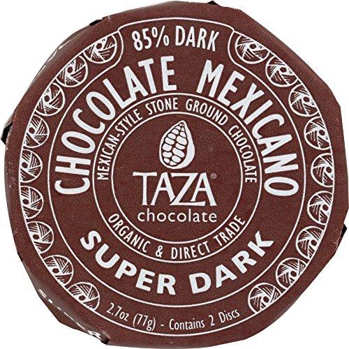 Taza Chocolate Organic Chocolate Mexicano Discs - Super Dark - Case Of 12 - 2.7 Oz.