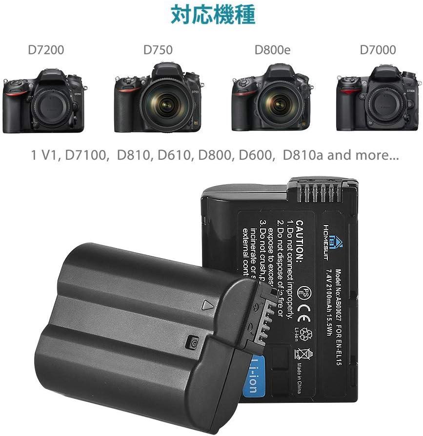 Nikon en-el15 1 v1 en-el15 d600 d610 d7000 d7 Patona slim micro-USB cargador F