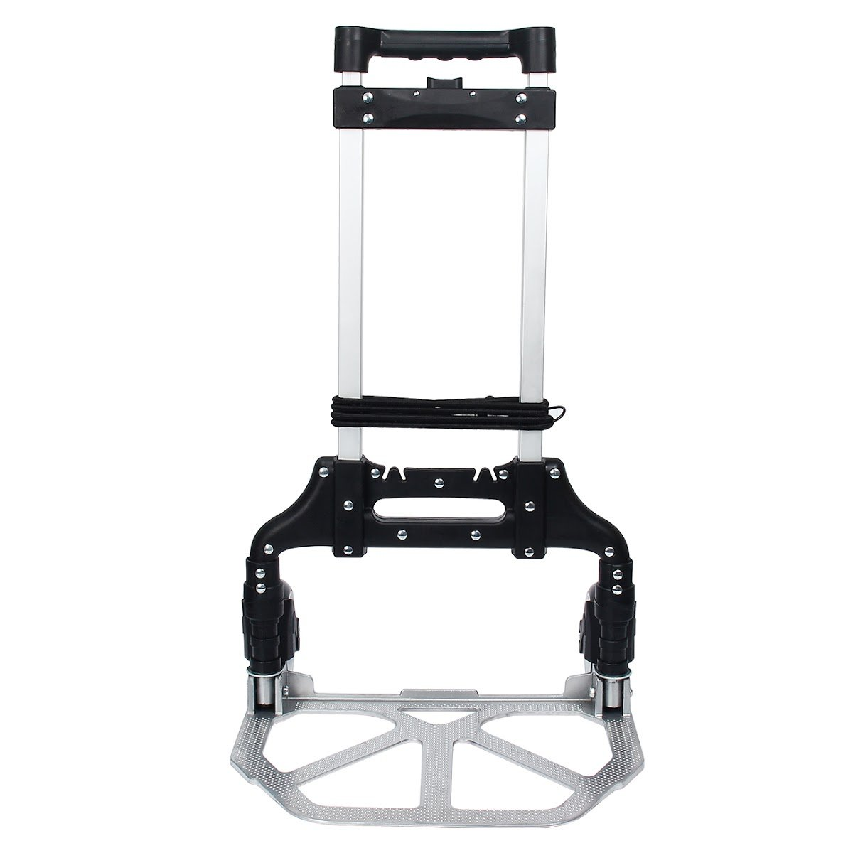 TargetEvo 170 lbs Folding Hand Truck Luggage Trolley Carts with Telescoping Handle includes 47 inches Extendable Rope and Hook Portable Lightweight for Travel Shopping Office