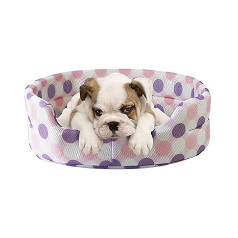 Extremadamente Suave, cómodo, cálido Artículos para Mascotas Caseta de Perro Summer Sandwich Mesh Teddy Transpirable Golden Retriever Pets Pet Cat Basket ...