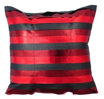 Amazon.com: The HomeCentric Designer Red Euro Pillow Shams ...