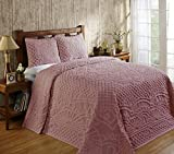 Better Trends/ Pan Overseas Trevor Bedspread, 80'' x 110''/Twin, Pink