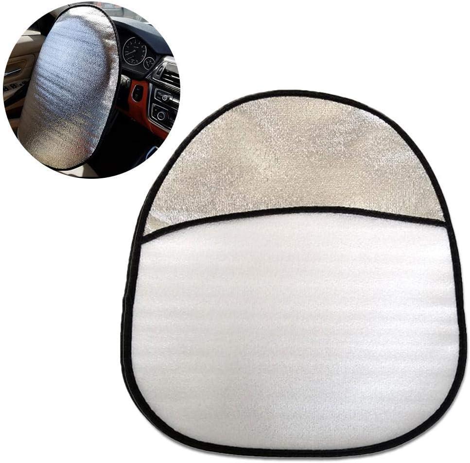 Cubierta del Volante de algod/ón Protector Solar Aislante Malla electrost/ática Lateral Sombrilla Lif/éUP Cubierta de la Cortina de la Ventana del Coche