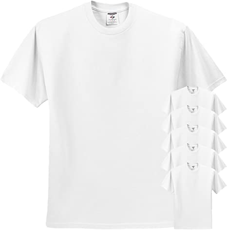 X-LARGE. Jerzees Adult Heavyweight Blend T-Shirt White Pack of 3