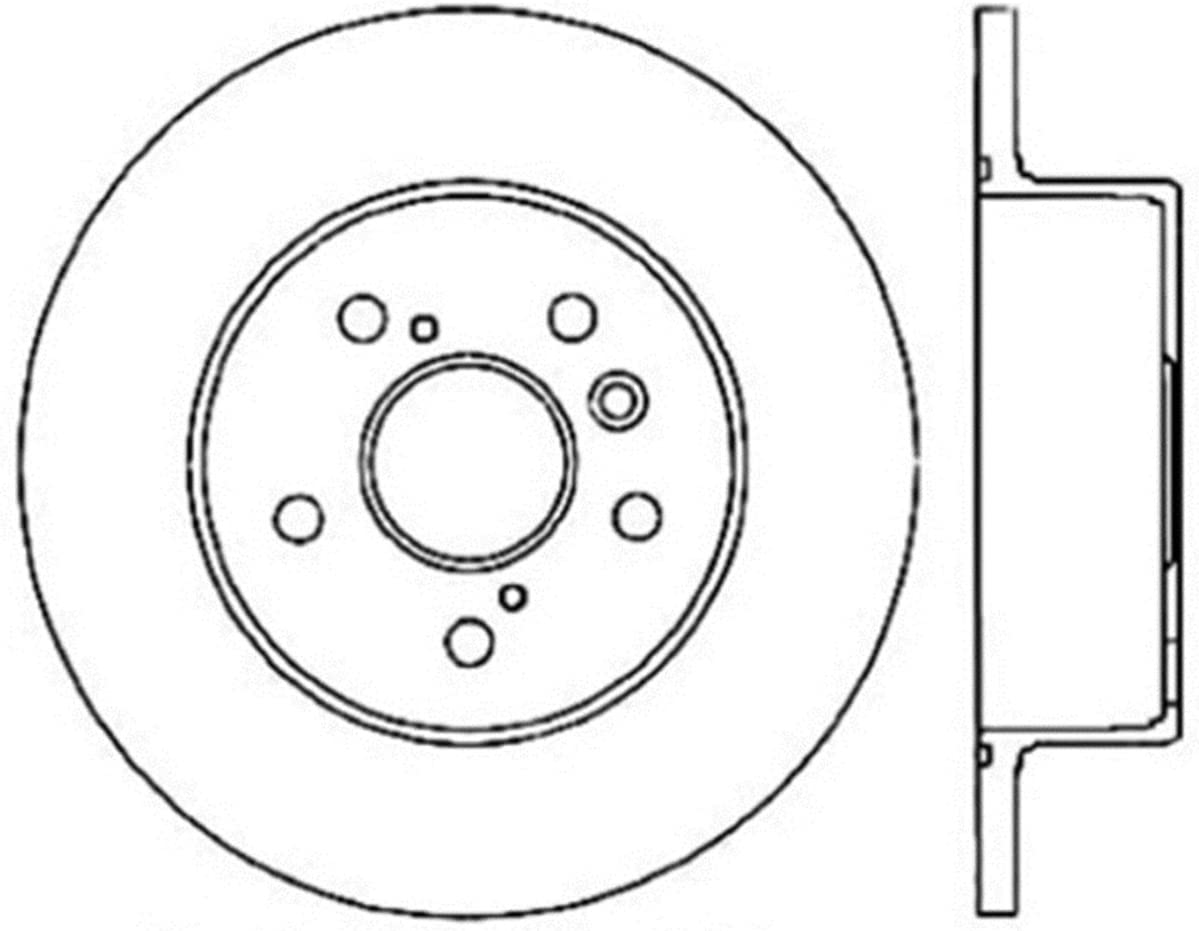 1 Pack Rear Left StopTech 127.33131L Sport Drilled//Slotted Brake Rotor