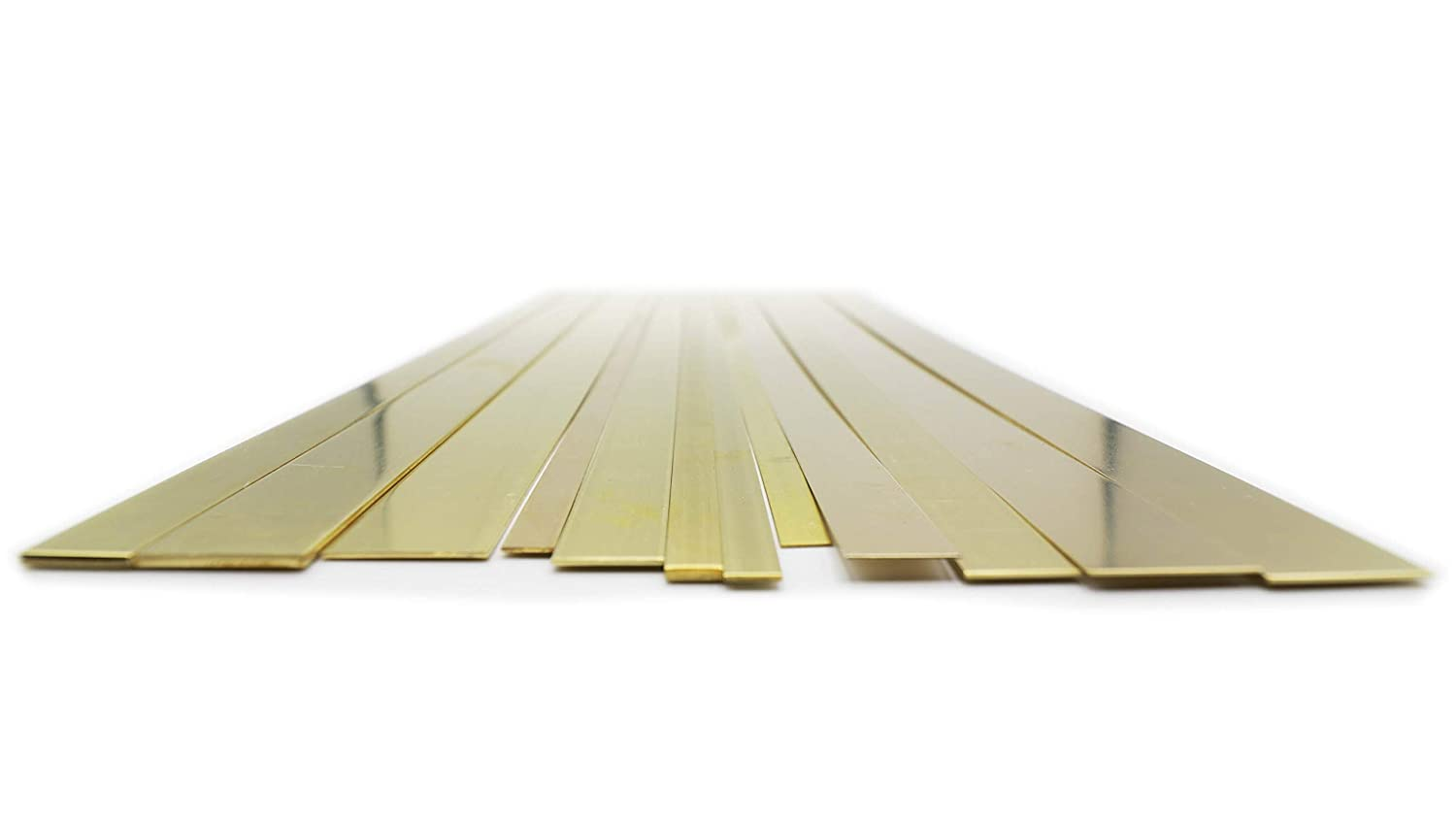 1//2 Made in The USA 3//4 Wide 12 Pieces per Pack K /& S Precision Metals 3407 Brass Strip.016 // .025 // .032 // .064 Thick Contains: 1//4