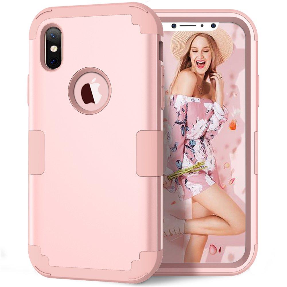 iPhone X Case, iPhone XS Case, KAMII 3in1
