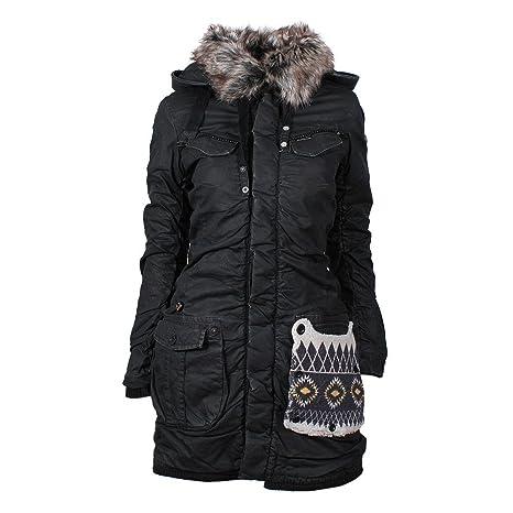 nera L invernale Sport giacca it Frauen Khujo e Chantal Amazon tqpt6g