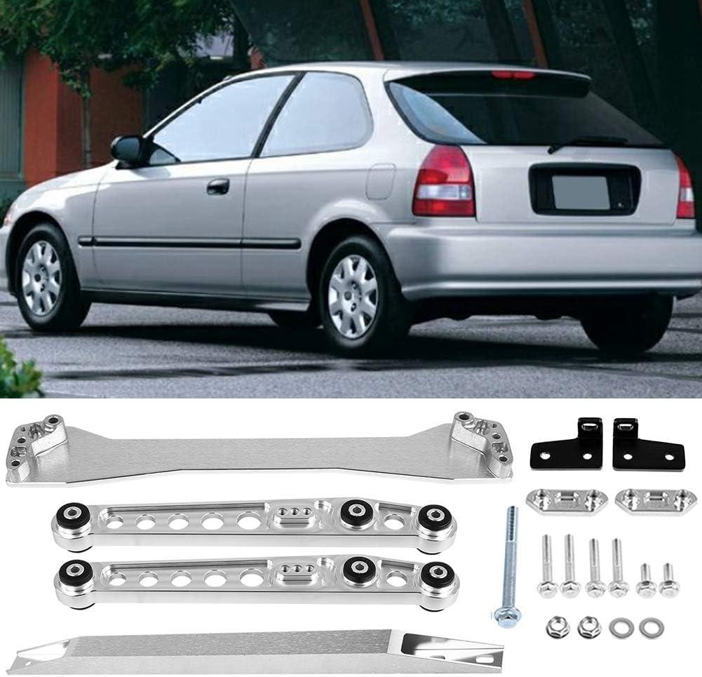 Kit de bras de commande inf/érieur arri/ère Barre de liaison de renfort de sous-ch/âssis compatible avec Civic EK CX DX EX Bras de suspension inf/érieur