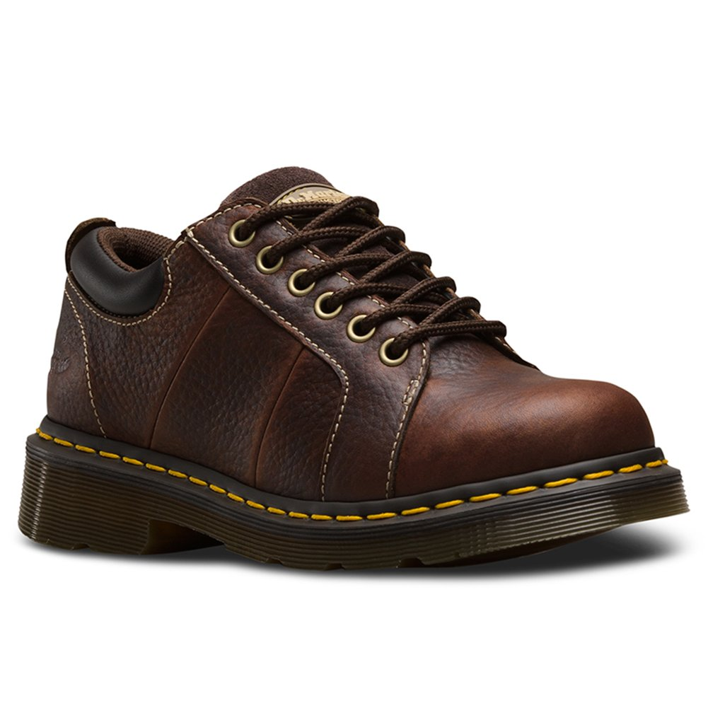Dr. Martens Women's Mila NS 6 Eye Work Oxfords, Brown, Leather, 5 M UK, 7 M US by Dr. Martens (Image #1)