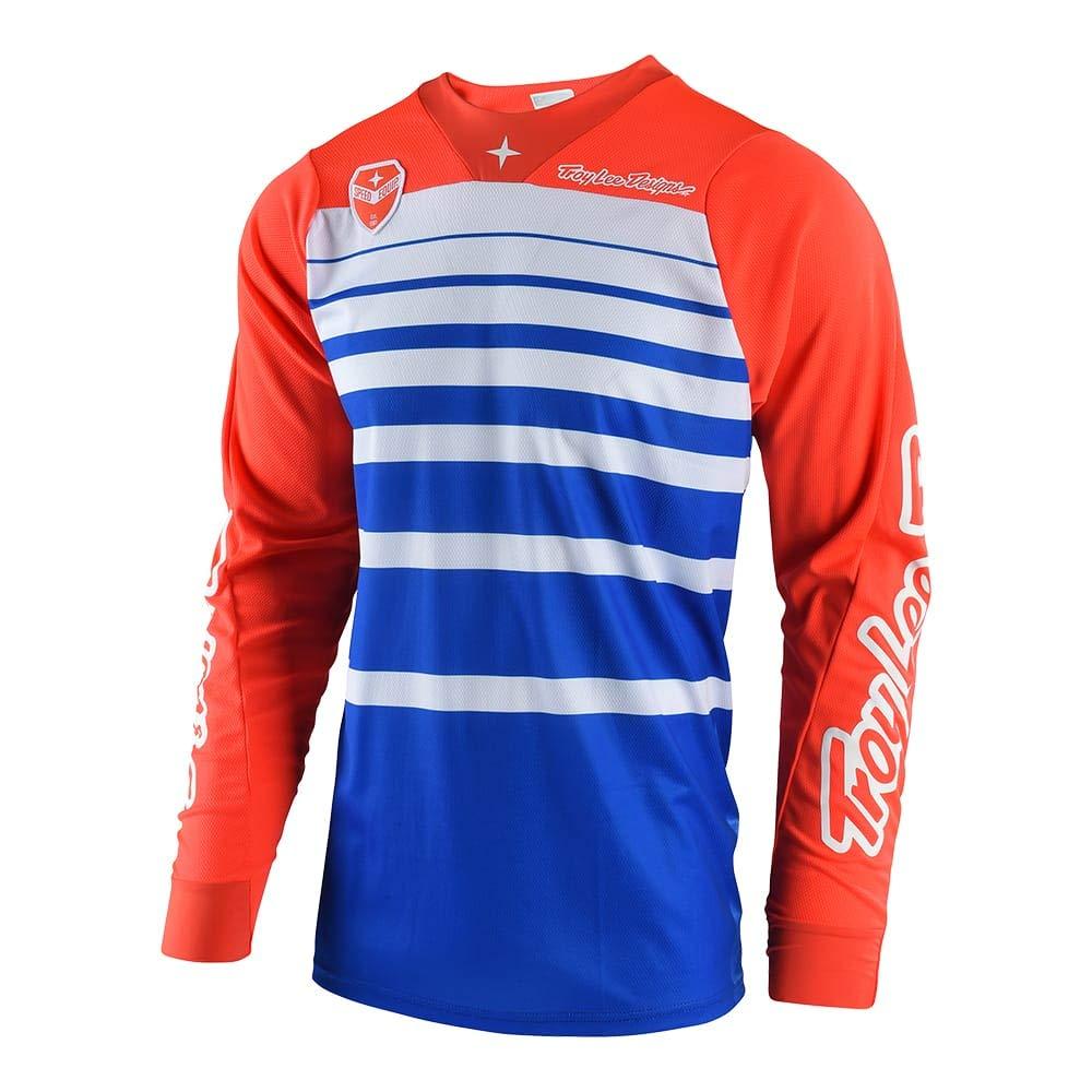 Troy Lee Designs Men's Offroad Motocross Streamline SE Jersey (Medium, Blue/Orange) by Troy Lee Designs