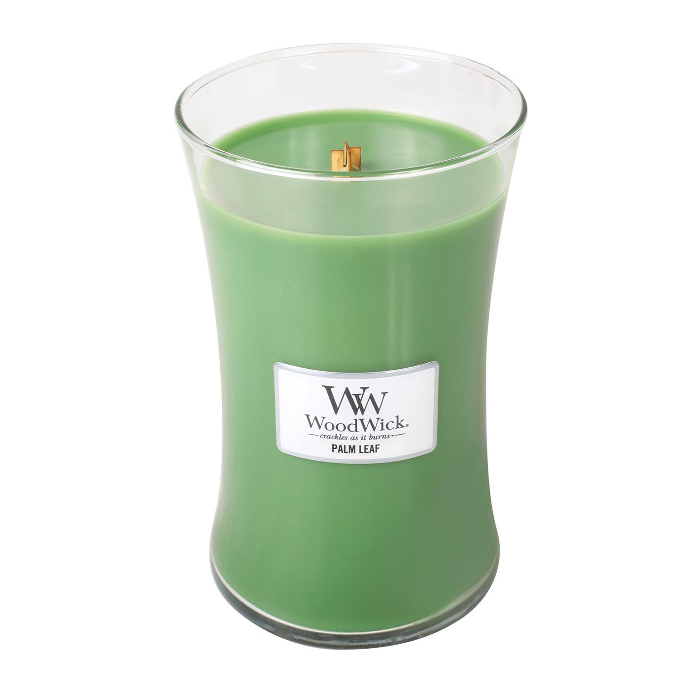 WoodWick PALM LEAF, Highly Scented Candle, Classic Hourglass Jar, Large 18cm, 640ml B07B6B3H6C