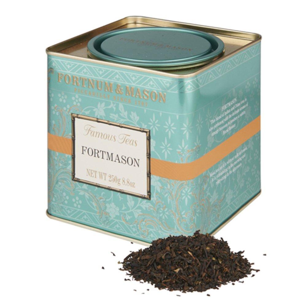 Fortnum and Mason British Tea, Fortmason Blend, 250g Loose English Tea in a Gift Tin Caddy (1 Pack) - Seller Model Id Lfmsfl098b - USA Stock