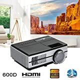 Cewaal WiFi Android Mini Projector, (UK Plug)LCD Image System Portable Home Video Projectors Support HDMI 1080P, Wireless Projector for Party Time