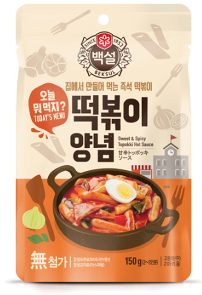 Korea Food Beksul Seasoning Tteokbokki Seasoning Sweet and Spicy 150g * 2ea 떡볶이양념 Made of Fermented Hot Pepper Paste, Gift Party Food Promotion
