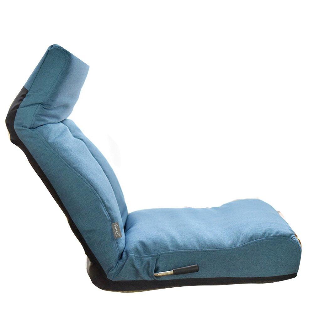 LIANGLIANG Boden Stuhl Zusammenklappbares Einzelsofa Bequemer Hintersessel, 2 Farben 60,5 cm Lang