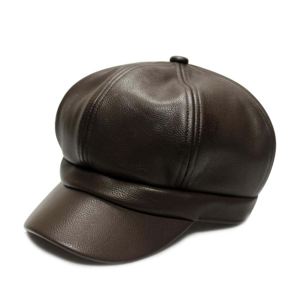 City Hunter Pmr110 Faux Leather Spitfire Hat 3 Colors