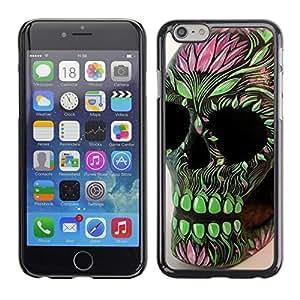 All Phone Most Case / Hard PC Metal piece Shell Slim Cover Protective Case Carcasa Funda Caso de protección para Apple Iphone 6 Green Pink Skull Floral Spring Death